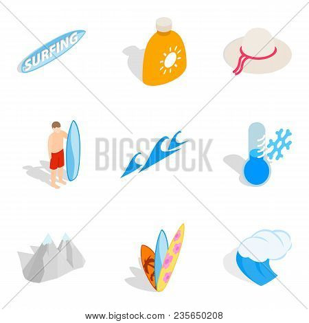 Quiet Rest Icons Set. Isometric Set Of 9 Quiet Rest Vector Icons For Web Isolated On White Backgroun