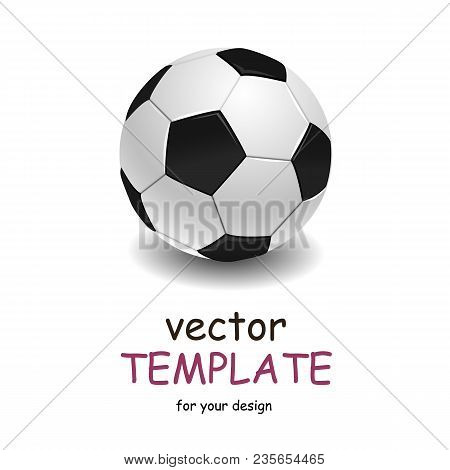 Soccer Ball Over White Background. Vector Template