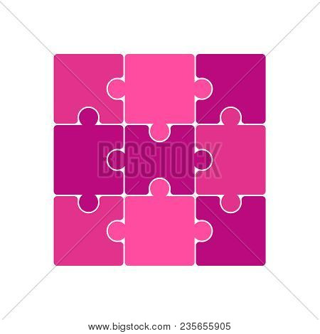 Vector Jigsaw Puzzle Pieces. Jigsaw Puzzle Parts