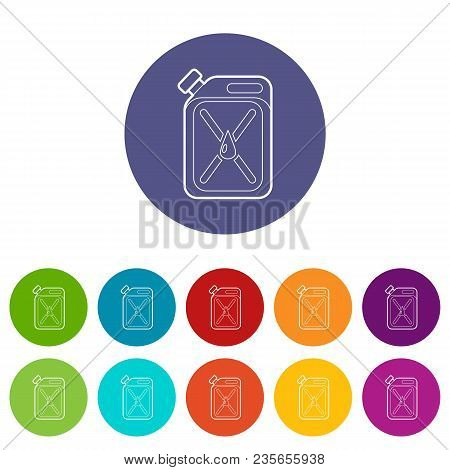 Jerycan Icons Color Set Vector For Any Web Design On White Background