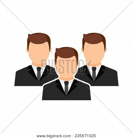Men Collective, Team Vector Flat Icon. Male Avatars.