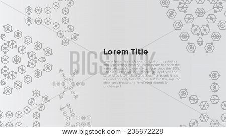 Creative Geometric Background With Copy Space For Template Web Design. Copy Space Banner. Business,