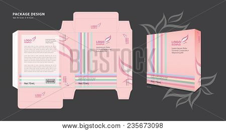 Package Template Design For Supplements, Cosmetics, Creams, Lotion, Spa, Beauty, Makeup, Candy, Perf