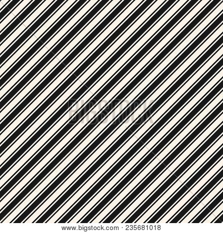 Diagonal Stripes Seamless Pattern. Simple Vector Slanted Lines Texture, 45 Degrees Inclination. Mode