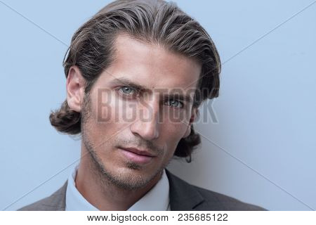closeup.portrait of confident business man
