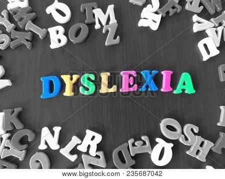 Dyslexia colorful word