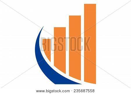 Business Diagram Abstract Logo Graphic Vector Design Icon