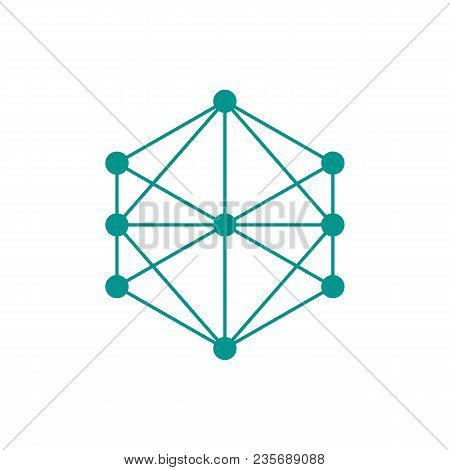 Knowledge Graph Icon. Outline Knowledge Graph Vector Icon For Web Design Isolated On White Backgroun