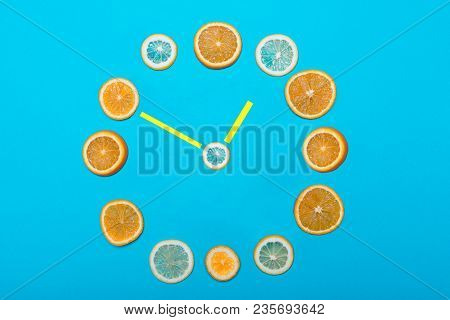 Hours Lined With Fruits