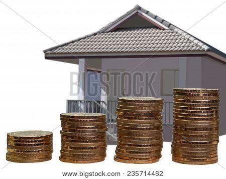 Saving To Buy A House Or Home Savings Concept. (saving Money Concept)