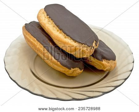 Cookie In A Dish On A White Background