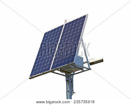 The New Solar Panel On White Background