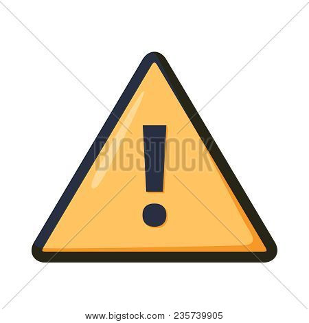 Attention Icon. Warning Sign. Exclamation Point. Vector Illustration Of Yellow Triangle And Exclamat