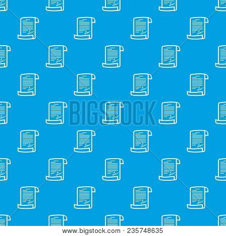 Agreement Pattern Vector Seamless Blue Repeat For Any Use
