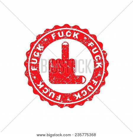 Fuck Stamp For Documents. Official Boss Answer Template For Office.