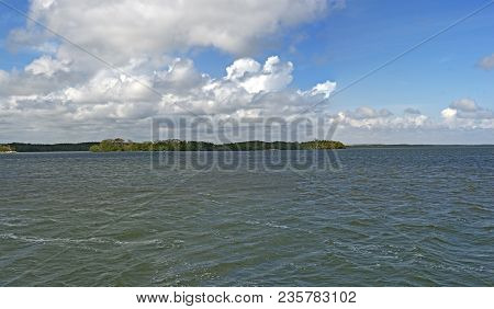 Biscayne Bay Panorama-biscayne National Park In Southern Florida, Usa.