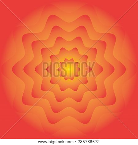 Colorful Fire Flower Wheel Gradient Background. Orange Red Yellow Color