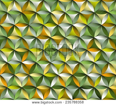 Flower Of Life Seamless Pattern With Autumn Colours