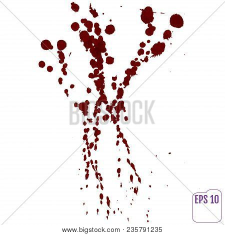 Blood Drip. Vector Red Ink Stain, Blots