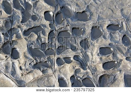 Abstract Background Stone Wall, Texture. Grey Or Gray Stone For Background. Beautiful Stone Structur