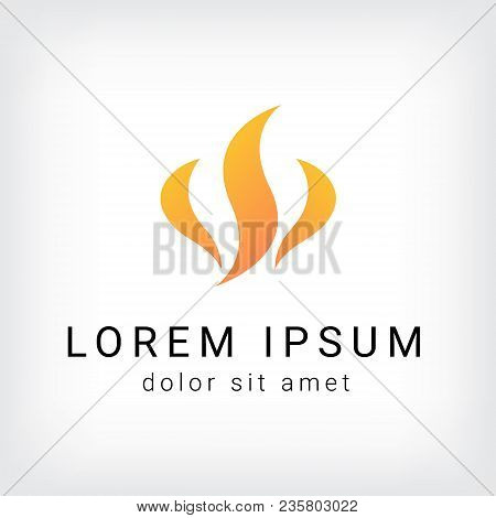 Flame Vector Logo Design Template, Fire Icon, Blaze Sign, Twirl Symbol, Vector Illustration
