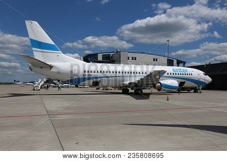 Katowice, Poland - June 6, 2016: Enter Air Vacation Charter Airline At Katowice International Airpor
