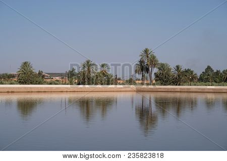 Menara Gardens Were Built In The 12th Century. There Is A Huge Artificial Lake In The Middle That Ge