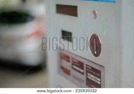 Parking Ticket Machine Money Slot For Parking Lot