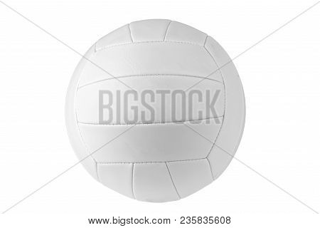 Multicolor Traditional Volleyball Ball, Isolated On White Background.