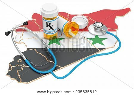 Healthcare In Syria Concept, 3d Rendering Isolated On White Background