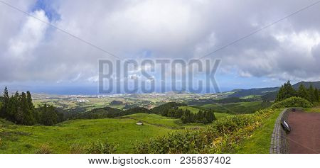 Picturesque View Of North Coast Of Sao Miguel Island, Azores, Portugal. Viewpoint Of Bela Vista (mir