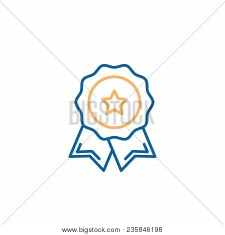 Quality Premium Product Stamp Seal. Vector Trendy Thin Line Icon Illustration Design