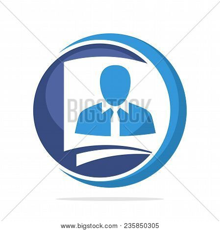 Logo Icon With Concept, File Management Employees, Employee Recruitment Review