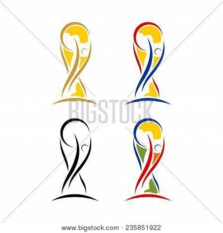 World Cup Soccer Trophy Icon. Trophy Vector Illustration Logo Web App