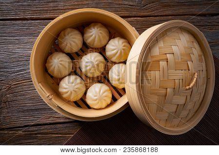 steamed pork buns recipe in bamboo steamer asian food