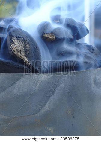 Smoking briquets