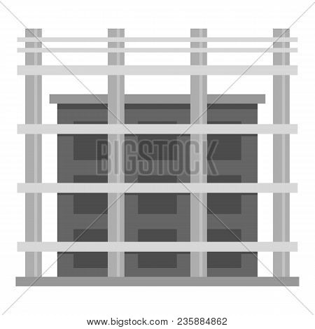 Building Exterior Icon. Flat Illustration Of Building Exterior Vector Icon For Web