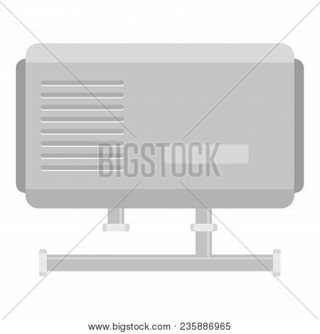 Domestic Boiler Icon. Flat Illustration Of Domestic Boiler Vector Icon For Web