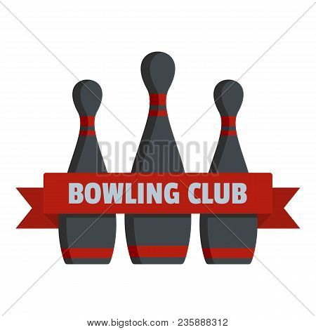 Bowling Club Logo. Flat Illustration Of Bowling Club Vector Logo For Web