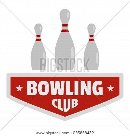 Bowling Sport Logo. Flat Illustration Of Bowling Sport Vector Logo For Web