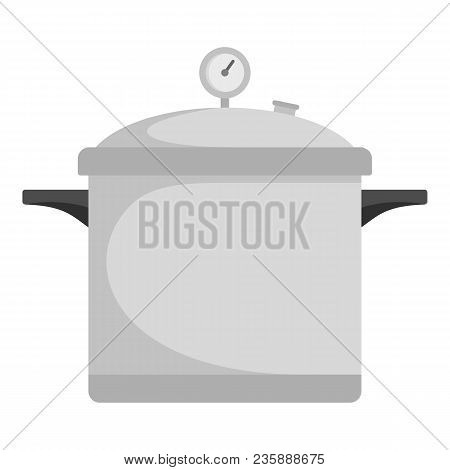 Time Cooker Icon. Flat Illustration Of Time Cooker Vector Icon For Web