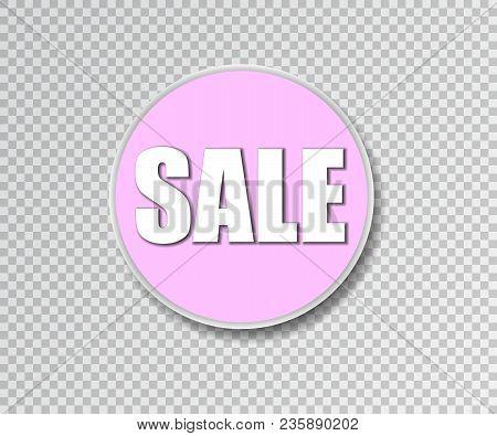 Summer Sale Sticker. Vector Illustration. Big Sale Round Banner. Sale Background. Sale Sticker. Eps1