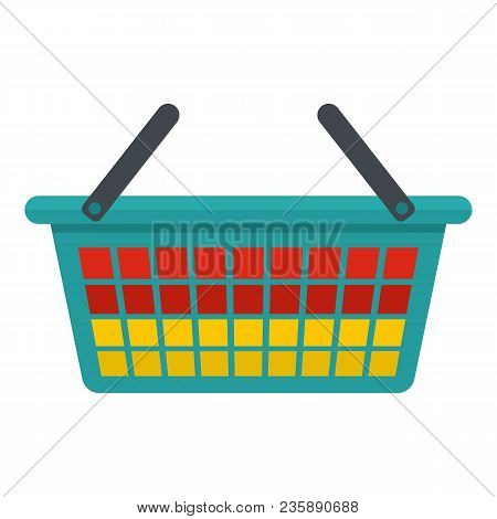 Clothes Bucket Icon. Flat Illustration Of Clothes Bucket Vector Icon For Web