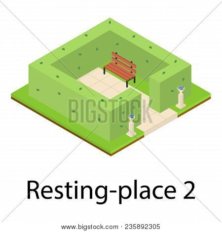 Resting Place Icon. Isometric Illustration Of Resting Place Vector Icon For Web
