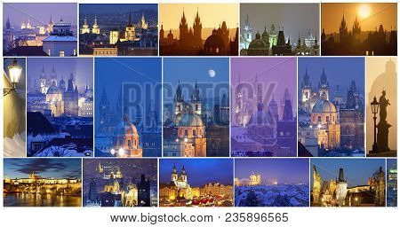 Czech Republic, Prague - City Of One Hundred Spires Composite.