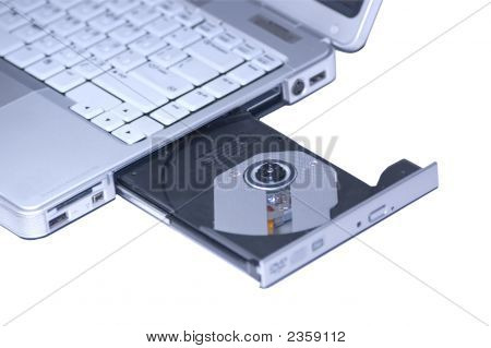 Laptop With Open Dvd/Cd