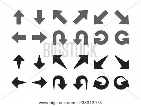 Single Direction Arrow Icon Set Vector And Illustration