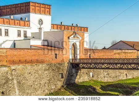 View Of The Historical Castle Of Princes Ostrozhsky In The Ancient Fortress Of Dubno, Rivne Region,