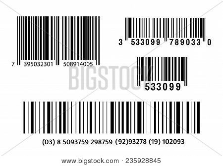 Realistic Bar Code Icon. A Modern Simple Flat Barcode. Marketing, The Concept Of The Internet. Fashi