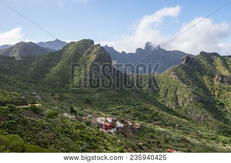 View Of The Village Of Las Portelas And The Mountains On The Road To Masca In The West Of Tenerife I